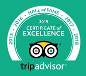 TripAdvisor Hall of Fame Certificate
